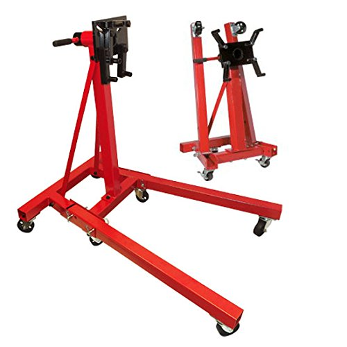 Heavy Duty 2,000 LB FOLDABLE Engine Stand Mobile Engine Cart Motor Lift