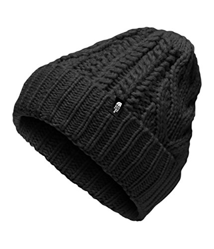 (The North Face Kids Unisex Cable Minna Beanie (Big Kids) TNF Black/Mid Grey SM)