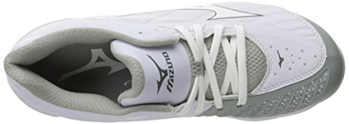 Mizuno Women's 9-Spike Advanced Sweep 3 Softball Shoe, Black White, 6 White