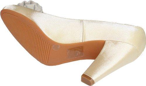 CAFèNOIR - Zapatos de vestir para mujer blanco Champagne 39