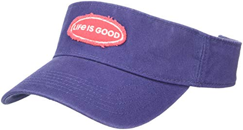 Life is Good Visor Life is Good Oval, Darkest Blue, One Size (Blue Oval Store)