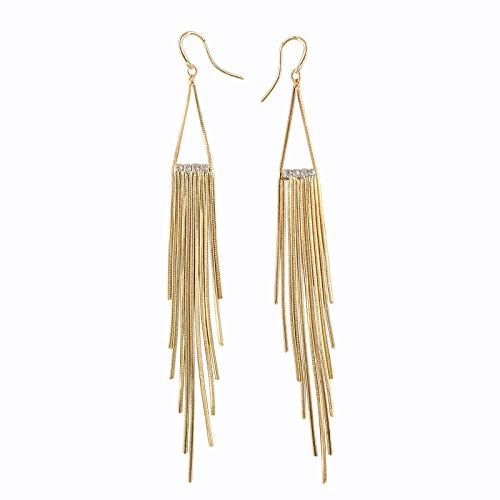 Runway Fashion JLo Gold Tone Earrings Extra Long 5