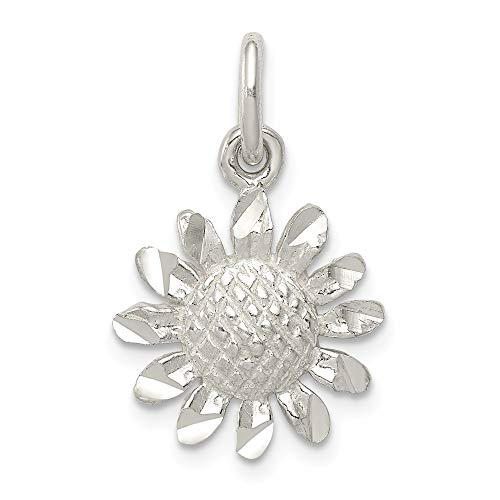 - 925 Sterling Silver Floral Pendant Charm Necklace Flower Gardening Fine Jewelry Gifts For Women For Her