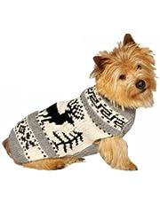 Chilly Dog Reindeer Shawl Dog Sweater, XX-Large