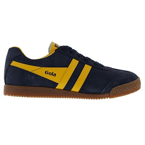 Blue Suede Trainers (Gola Sport Womens Harrier Navy Suede Trainers 8 US)