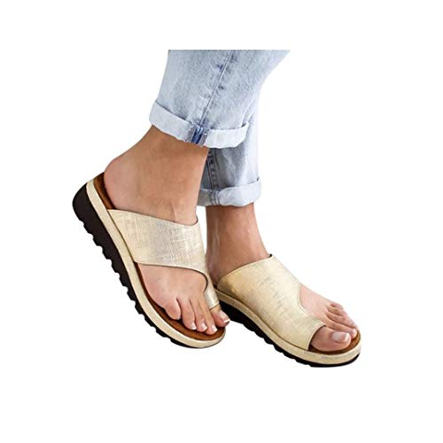 Women's Aditi Low Wedge Casual Flip Flops Wedges Open Toe Ankle Sandals Platforms Beach Shoes Roman Slippers
