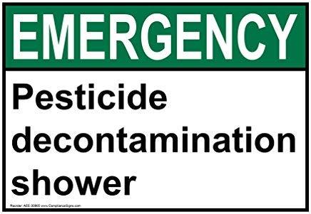 liuKen Emergency Pesticide Decontamination Shower Funny Warning Signs for Property Aluminum for Home Gate OSHA Safety Hazard Sign 8