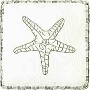 Starfish Quilt Throw Pillow - 16""