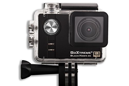 GoXtreme 4K Sports Action Camera: BlackHawk Compact POV Cam System with Ultra HD Video, WiFi and Accessories, Including Underwater Case & Helmet Mount by GoXtreme