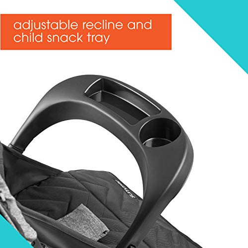 41kN3OWpRzL - Summer 3Dpac CS Lite Compact Fold Stroller, Black – Compact Car Seat Adaptable Baby Stroller – Lightweight Stroller With Convenient One-Hand Fold, Reclining Seat, Extra-Large Canopy, And More
