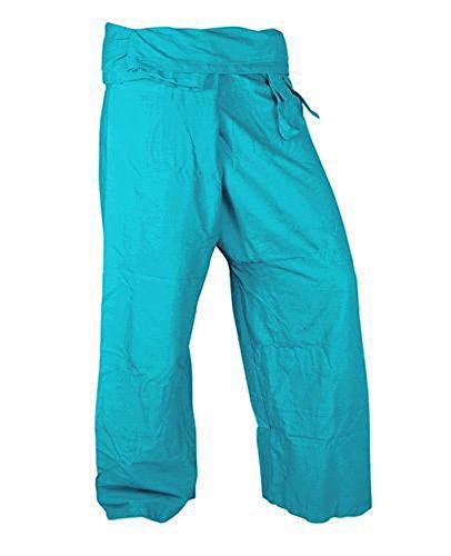 Cute Pants Rayon Fabric Sky Blue Color Yoga Trousers Thai Fisherman Pants Lululemon Yoga Pants Free Size