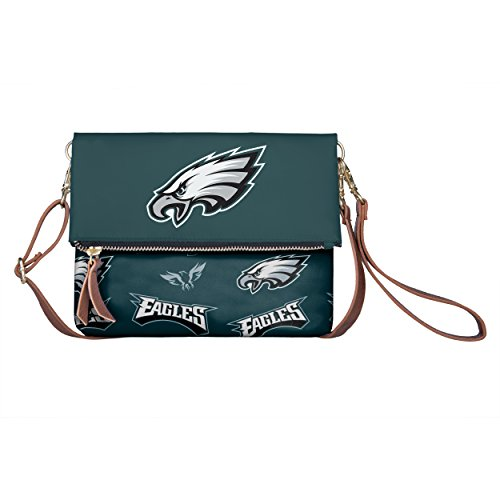 FOCO NFL Philadelphia Eagles Women's Printed Collection Foldover Tote Bag, One Size, Team -