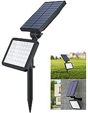 OUSFOT Solarleuchten Garten Solarstrahler für Außen Solar Garten mit Erdspieß 48 Leds Solarspot 5 Beleuchtungsmodi Wasserdicht Verpackung MEHRWEG