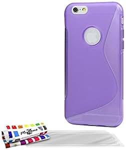 Muzzano F853153 - Funda para Apple iPhone 6 Plus, incluye 3 protecciones de pantalla, color violeta