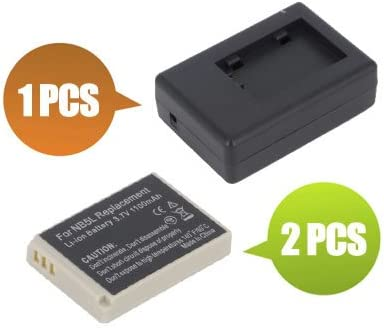 1100 mAh BattPit trade; New 2x Digital Camera Battery 1x Charger Replacement for Canon PowerShot SD900