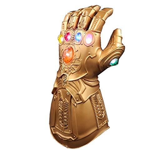 Maskfind Thanos Glove Gauntlet LED Flash PVC Toy Gloves for Party Carnival (Adult Bronze Gauntlet)]()