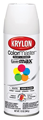 Interior Glass - Krylon K05150807 Paint Spray Semi Gloss White