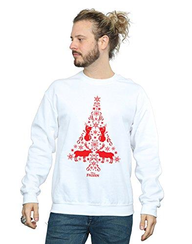 Entrenamiento Tree Camisa De Frozen Hombre Disney Blanco Christmas qwISYt7v