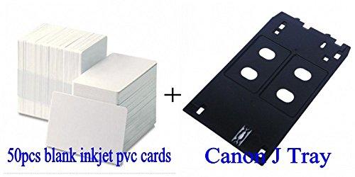50PCS Card + 1PCS Inkjet PVC ID Card J Tray for Canon MG5420 MG6320 MX922 MG7120 iP7230 iP7220 by MZFIR