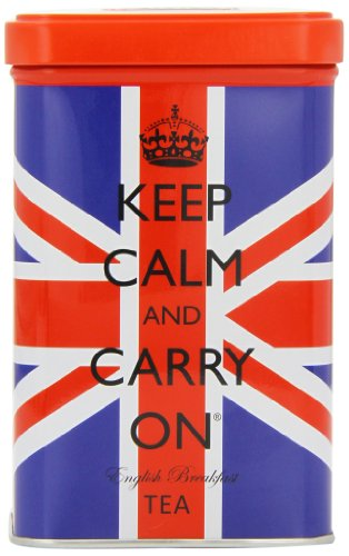 Keep Calm And Carry On Union Jack Tea Tin 125 G (125g Tin)