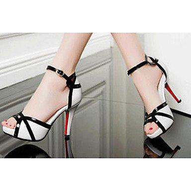 Normal Komfort Heels Flach LvYuan Weiß ggx Sommer PU white Damen High Frühling Komfort HHa8U