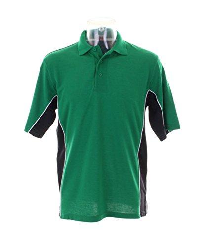Kustom Kit–Gamegear Track Polo Shirt KK475Irish Grün/Schwarz Groß