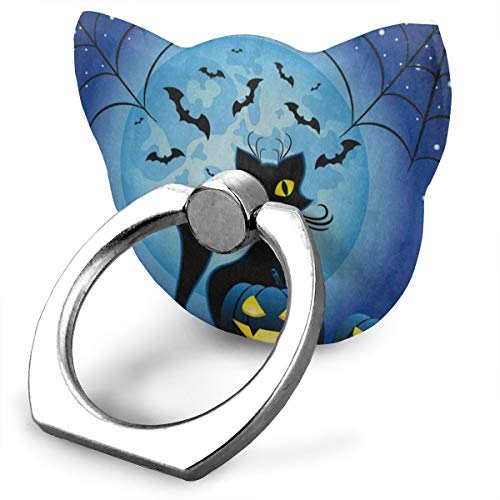 Designer Customized Finger Ring Stand Hipster Cat Full Moon Spider Web Halloween 360°Rotation Cell Phone Ring Stand Holder Grip Universal Smartphone Ring