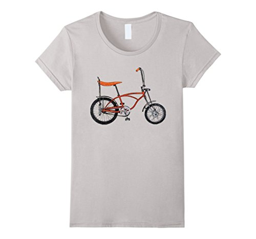 Womens 1970s Vintage Retro Banana Seat Bicycle Sketch Tee...