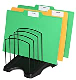 Eco-Tidy, Step File Organizer Rack, Six Section Step up Increasing in Height, Rubber Feet, Easy Handles