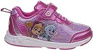 Josmo Kids PAW Patrol Girls' Athletic Sneaker - Pink/Purple - Sizes 6-12 (Todd