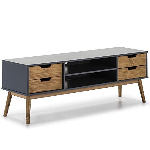 Mueble TV Java 1 puerta y 2 cajones Gris/Cera