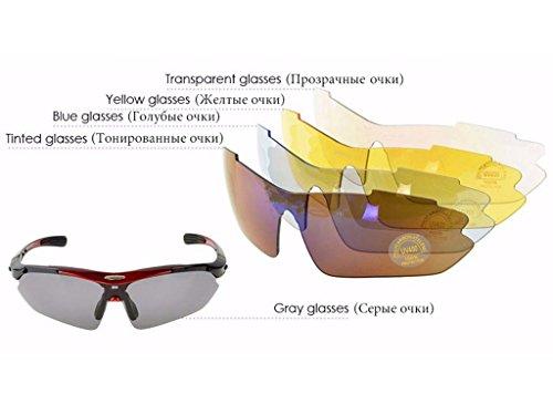 Bicicleta Aili Sol para G Gafas Protección Gafas Bicicleta Lentes A Montaña Hombre Ciclismo Gafas polarizadas 5 y para de Ciclismo A1xpw8rqA
