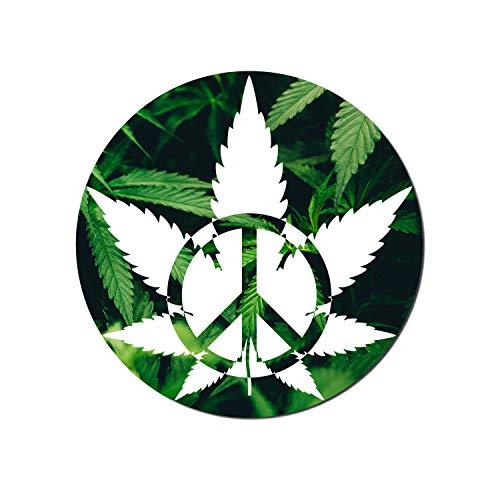 Vincit Veritas Medical Marijuana Peace Vinyl Decal Weed Stickers Medical Cannabis Label Medical Marijuana Labels Pot Leaf Sticker Dab Stickers Cannabis Labels | Premium Quality 4 Inch By 4 Inch | S008