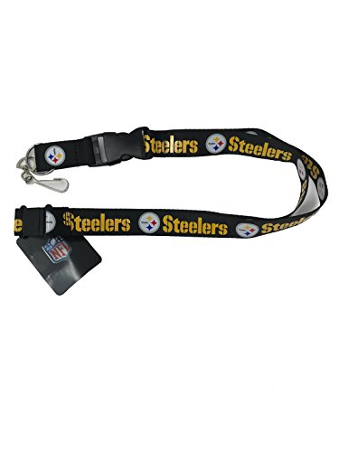 (PSG INC NFL Pittsburgh Steelers Sports Lanyard, Keychain, Black)