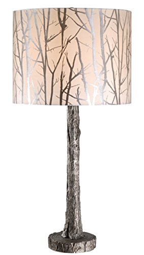 "Kenroy Home 32656ASIL Fleetwood Table Lamp, 30.5"" x 15"" x 15"", Antique Silver Finish"