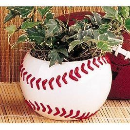 Ceramic Baseball Planter Great for Kids Room,Sports Fans and Home and Office Decor
