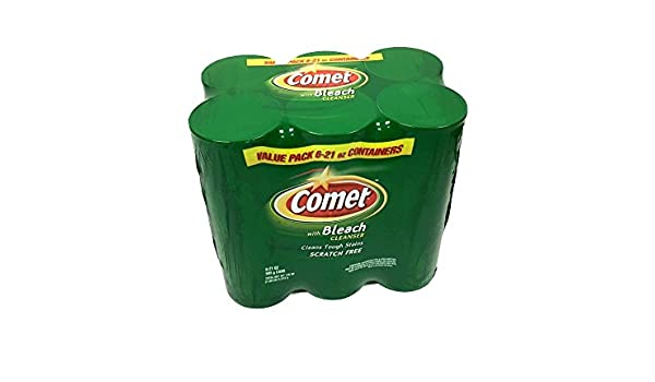 Amazon.com: 6 Pack - Comet Cleanser With Bleach 21oz Scratch Free: Health & Personal Care