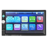 Car Stereo with Bluetooth Audio In-Dash Aux Input Receiver SD/USB MP5 Player Touch Screen(Ship from USA)