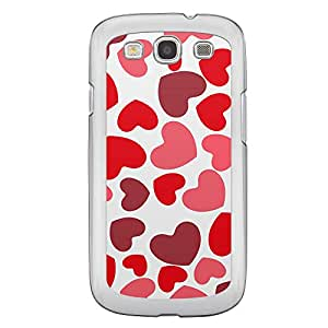 Loud Universe Samsung Galaxy S3 Love Valentine Printing Files A Valentine 118 Printed Transparent Edge Case - Red/White