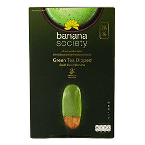 Banana Society Green Tea Dipped Solar Dried Banana 250g.(8.81oz.)