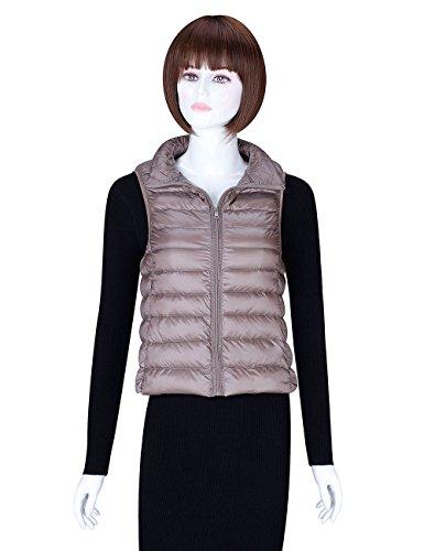 ADAMARIS Vests for Women Fashion Lightweight Women Casual Down Vest Jacket White Packable