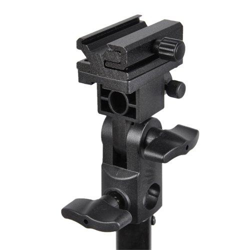 CowboyStudio Flashlight /Hot Shoe/Umbrella Holder with Swivel/Tilt Bracket for Nikon and Canon E430 E580 SB600 SB800 SB900 (Hot Shoe Light Bracket compare prices)