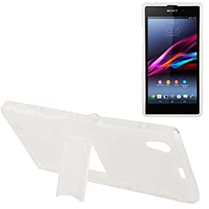 Frosted Plastic Translucent S Line-Funda Anti skid TPU Case Cover, Holder para Sony Xperia Z1 L39h,// Honami C6906 (Transparent)
