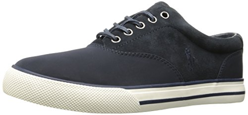 Polo Ralph Lauren Men's Vaughn Saddle Sneaker, Navy, 11 D US