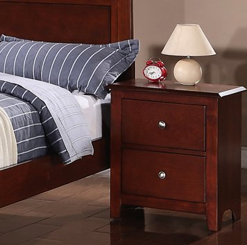 Night stand in Oak with 2 Drawers by Poundex
