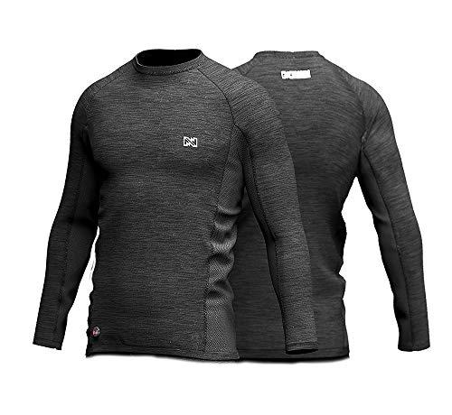 Mobile Warming Mens Primer Bluetooth Battery Heated Base Layer Shirt (7.4V), Black, Medium