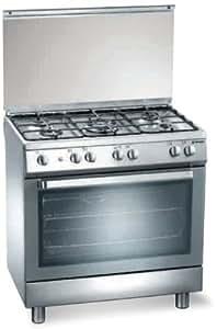 Tecnogas D 802 XS Independiente 80L Acero inoxidable - Cocina (Independiente, Acero inoxidable, Giratorio, Frente, propano/butano, Gas)