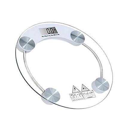 Velkro Round Shape Glass Weighing Machine