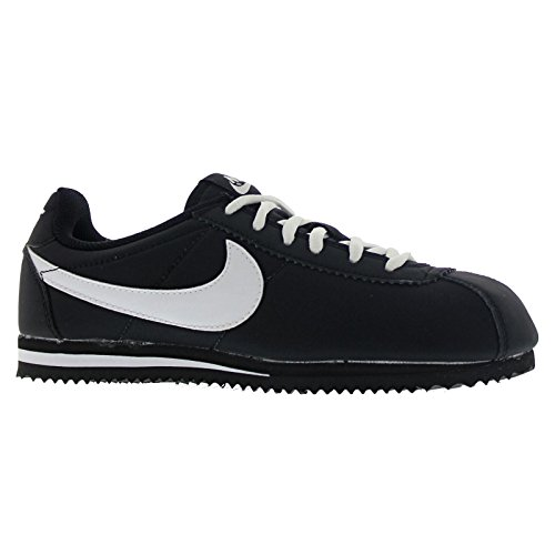 Nike Cortez Nylon (GS) Trainers 749493 Sneakers Shoes (5.5 Big Kid M, Black White 001)