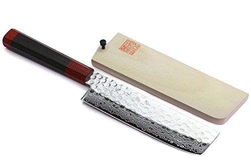Yoshihiro Hammered Damascus Vegetable Rosewood product image